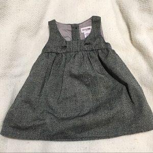 OshKosh baby girls gray sparkle dress